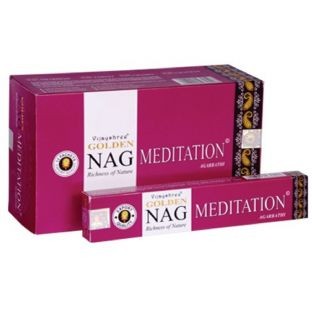 Vijayshree Golden Nag Meditation Masala Incense Sticks (1 x 15g box)